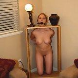 Decorative gagged girl