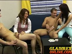 Boys undressed and getting handjob