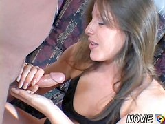 Single mother stroking cock for cash