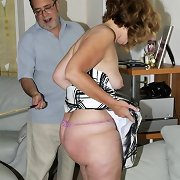Hasband caned mature wife