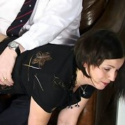 The Boss spanked a bad secretary otk