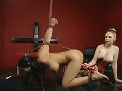 Asian slave suspended and fucked