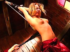 Tortured blond slut Livia Choice