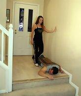 Wife trampled husband