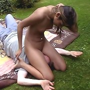 Outdoor smothering and facesitting