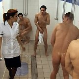 The men are stripped naked and subjected to the most humiliating sexual trials