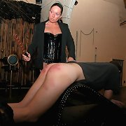 Stunning vixen bitch punishes poor guy in the cellar