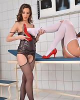 Candy pleasant Penelope Foot Worship in Open-Crotch Pantyhose