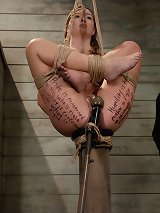 Hot Blonde Beauty in Slave Training
