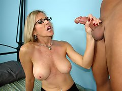 Big titted ebony fatty rides white dick 1