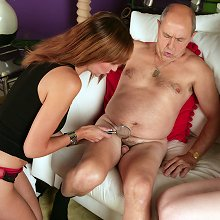 Defeat at strip poker means two girls get to see his tiny cock