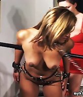 Maxine is stripped and spanked in this sexy bondage scene