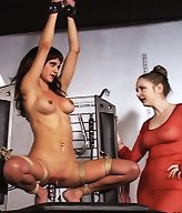 Kinky Jody and Chanta Rose get nasty in the dungeon