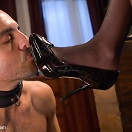 Adam Russo is caught fantasizing about his maid dominating him including foot worship, CBT, strap-on ass fucking ruined orgasms and more!