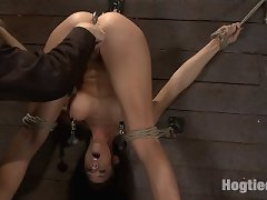 Cute girl next door is fastened with gazoo and fur pie undressed for brutal abase and pleasure