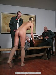3 Czech Prostitutes punished to tears - Group Caning