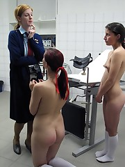 Bare principle spanking with a wooden ruler