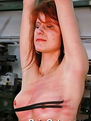Redheads cunt in whipping fire