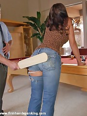 Bare bottom over-the-knee spanking for Tanya Carter from a college advisor