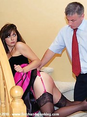 Alison Miller is paddled bare and hard in Reform School - seize those ankles