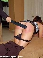 10 nude bottom with a trainer paddle leaves Michaela enthusiastic and sore