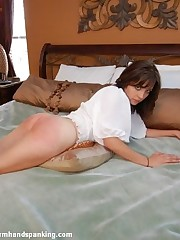 Stunning Samantha Woodley spanked & strapped for theft in spectacular scenes