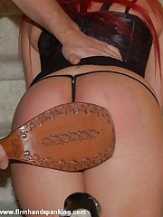 280 strokes with a leather wrapped close up teaches Samantha Woodley sob to steal