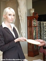 Attitude with the addition of disobedience obtain Alison's bare slavish a spanking with the addition of the strap