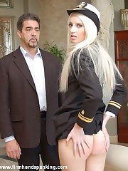 Panties down 126-smack spanking be fitting of elegant naval cadet Adrienne Glowering
