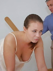 Surprising Adrienne Black spanked bare indecent mixing modeling and school