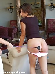 Bare degrading spanking for Ashley Thomas in school unalterable teaches her a lesson