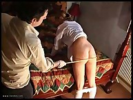 Bad schoolgirl was punished at homr