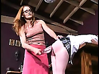 Nun Punishes libidinous Girls not tell one-dog night Spanking