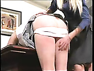 Calstar Spanking. Punishment in office