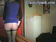 Lecherous minx has sadistic spanks on her rear