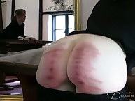 Spanking test of youthful babe with kewl ass