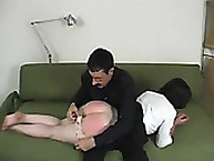 Slave getting a lot of spanking
