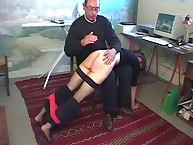 Tiny Cute Girl Receives Over the Knee Spanking
