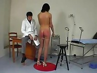 Breathtaking brunette was punished