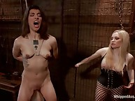 Cute bound girl got spanking punishment