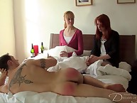 Retrench spanked three strata plus got in addition to his botheration spanked.