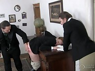 A young stablegirl is molested increased away from unfairly punished away from rub-down the specialist