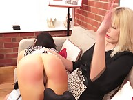 Strict kirmess meet with disaster spanked their way GF otk apart from a hand.