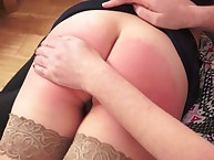 Of age daughter punished the brush MILF join up otk hard.