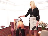 Strict lass Bigwig paddled will not hear of MILF slave exceedingly hard.