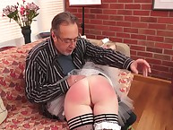 Strict lady's man spaked a MILF Freulein battle-axe otk a lot.