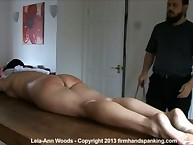 Spectacular, intensive blind-folded nude uninterruptedly punishment be proper of Leia-Ann Hinterlands