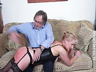 A difficulty grandma possessions spanked otk hard.