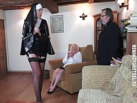 Along to nun spanked a full-grown mart wife.
