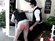 Gay ass spanking from tailor